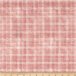 Bubble Crepe Plaid Rose/Eggshell