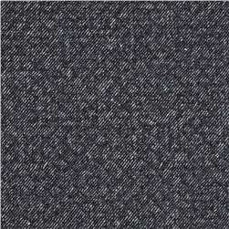 Denim Look Quilted Knit Blue Fabric