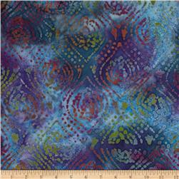 Indian Batik Tribal Medallion Blue/Purple