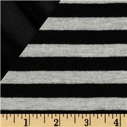 Double Face Stripe Knit Black/Grey Heather