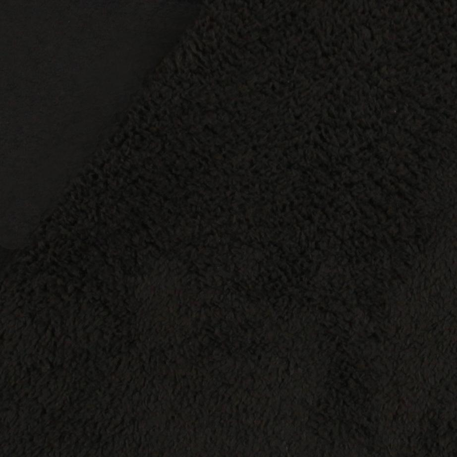 Black Leather Fabric Texture Shannon Minky Bonded C...