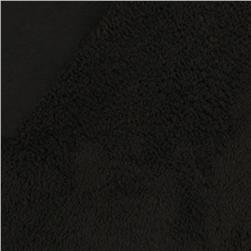 Minky Bonded Cuddle Black/Black Fabric
