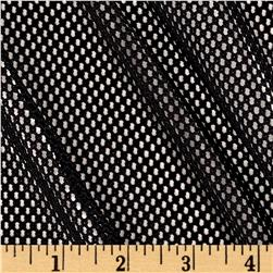 Mod Stretch Mesh Black Fabric