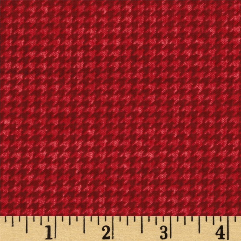 The King's Arrival Houndstooth Check Red