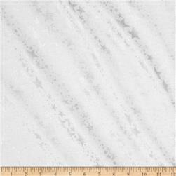 Kanvas Frost Sparkle Star White Fabric