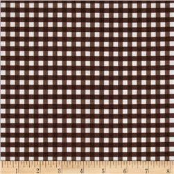 Riley Blake Medium Gingham Brown Fabric