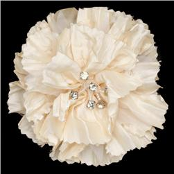 Florentina Jeweled Brooch 4'' X 4'' Ivory