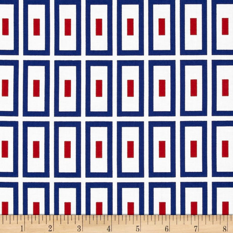 Ace Rectangles Blue/Red