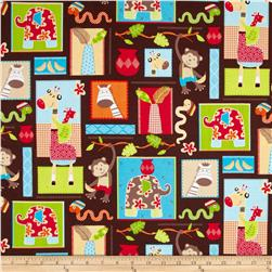 Monkey Mates Blocks Brown