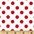 Minky Minnie Dots White/Red