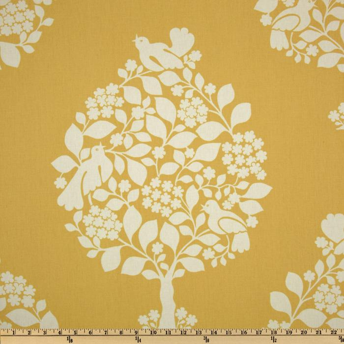 Duralee Home Tree of Life Yellow