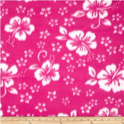 Printed Fleece Hibiscus Pink