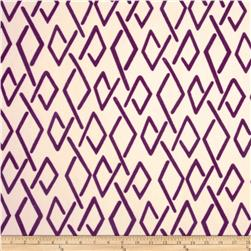 Home Accents Sojourn Flocked Plum Fabric