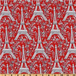 Michael Miller Rouge et Noir Eiffel Tower Red