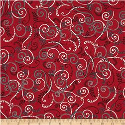 Black, White & Currant 6 Swirl Red