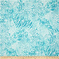 Wild Skins Animal Print Turquoise Fabric