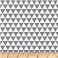 Stof Duo Mini Triangles Grey/Ivory