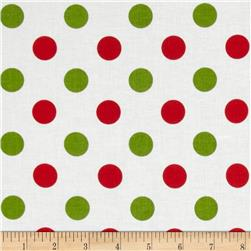 Riley Blake Christmas Basics Medium Dots Christmas Fabric