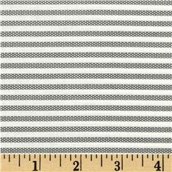Animal ABCs Small Stripe Organic Cotton Dark Gray