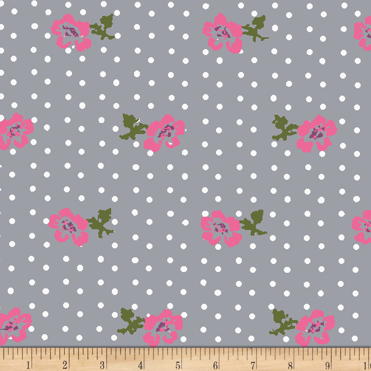 Bolt By Girl Charlee Homestead Life Jersey Knit Dotty Floral Multi Fabric