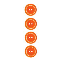 "Riley Blake Sew Together 1"" Stitched Button Orange"