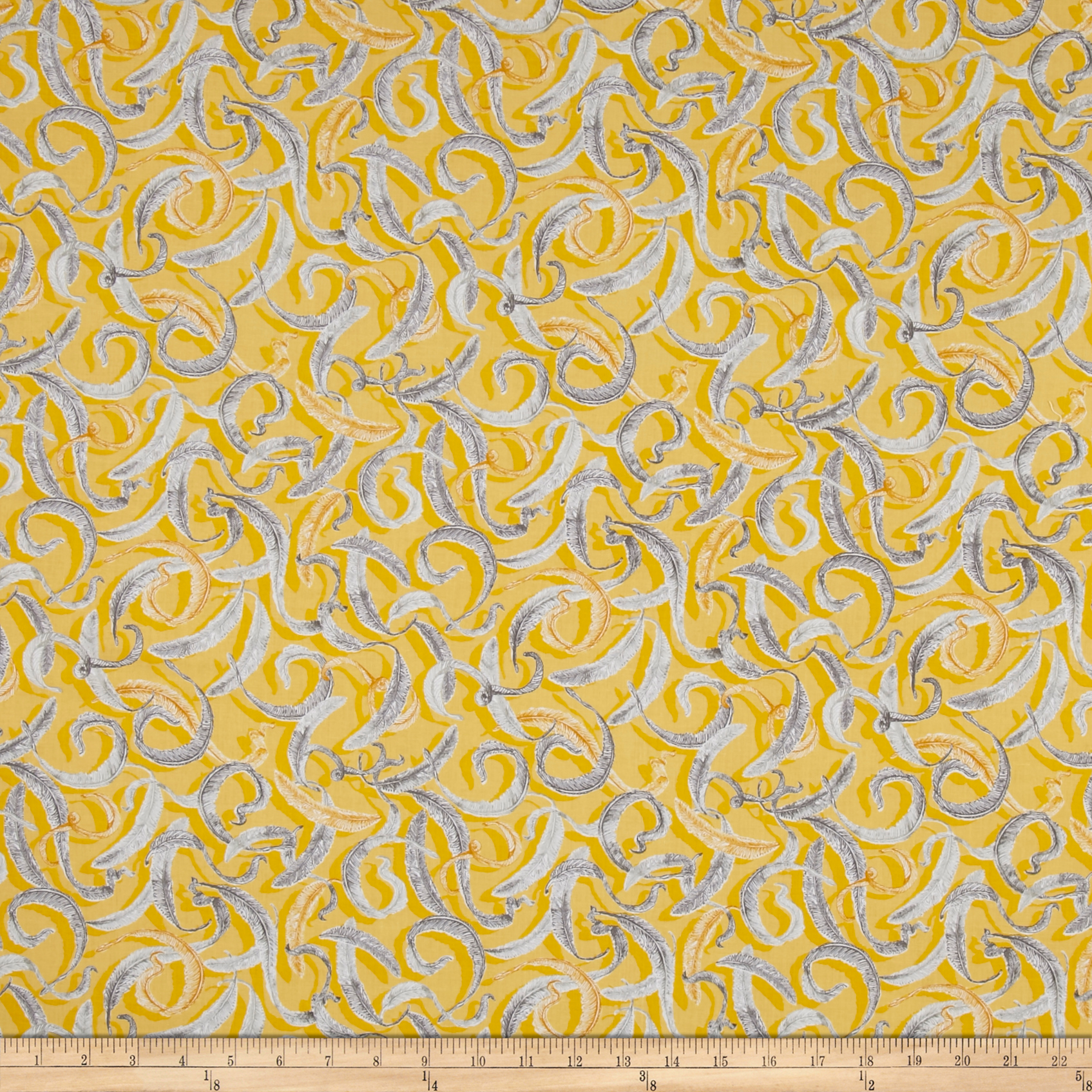 INOpets.com Anything for Pets Parents & Their Pets Baroque Garden Plumes Gold Fabric