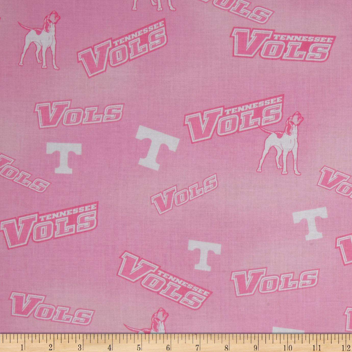 Collegiate Cotton Broadcloth Tennessee Pink Fabric