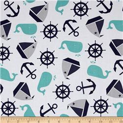 Nautical Treasure Tossed Nautical White