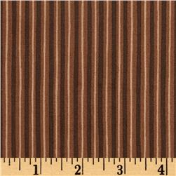 Maywood Studio Kimberbell Basics Little Stripe Brown Tonal