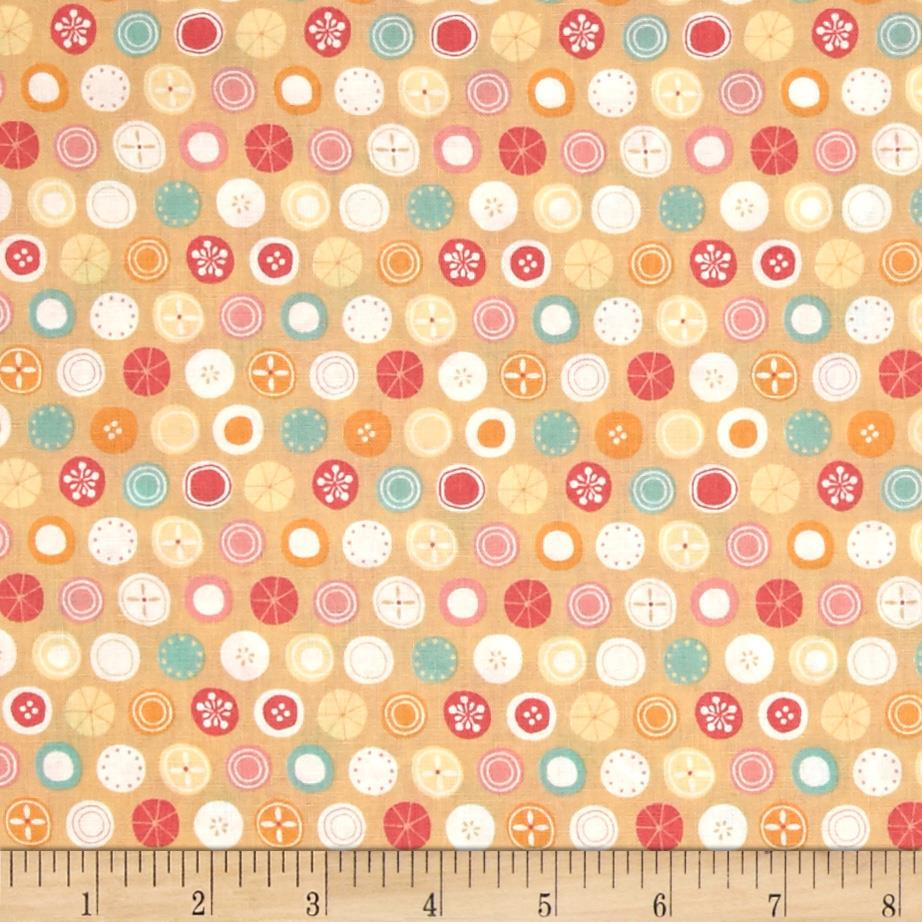 Tiny World Patterned Dots Beige