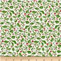 Christmas Elegance Holly Leaves Cream
