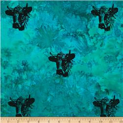 Indian Batik Animal Planet Steer Jade
