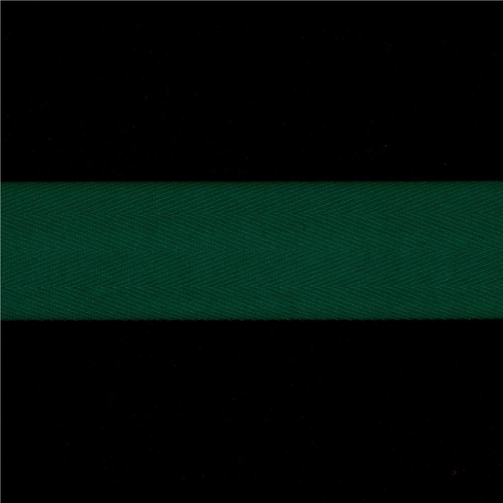 1 1/2'' Twill Tape Ribbon Green