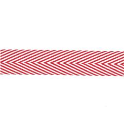 "May Arts 3/4"" Chevron Twill Ribbon Spool Red"