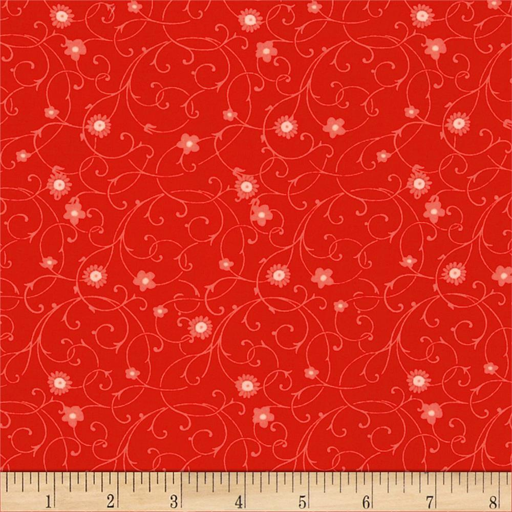 Rubies Floral Swirl Red