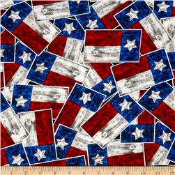 Moda Texas Proud Texas Flags Bright