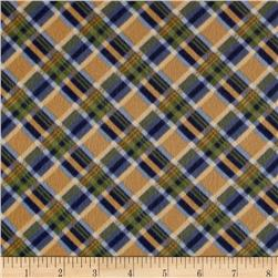 Timeless Treasures Tailormade Flannel Bias Plaid Gold