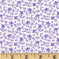 "108"" Quilt Backing Floral Purple"