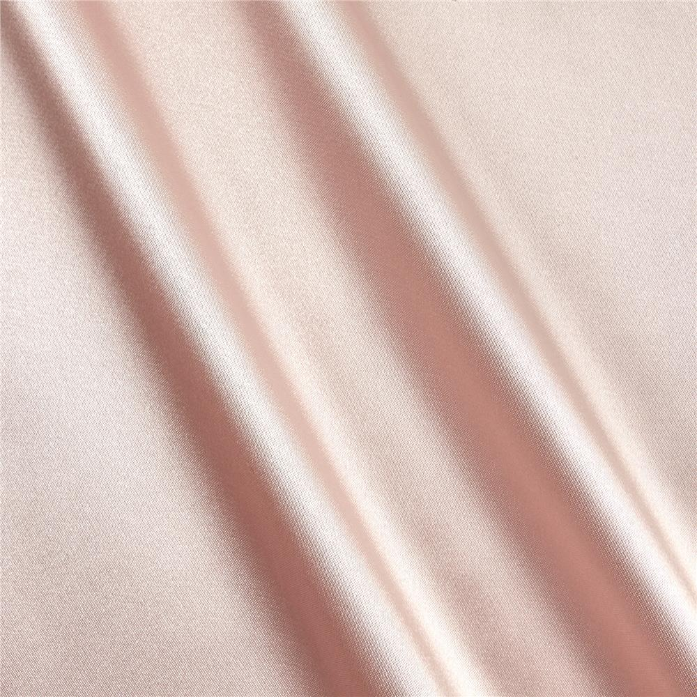 Silky Satin Charmeuse Solid Rose Powder Fabric