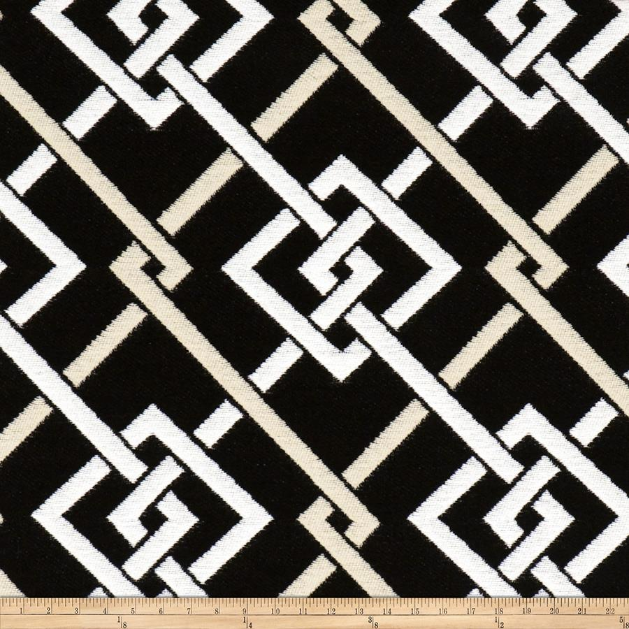 Fabricut bella dura fretwork zebra discount designer for Fabric pattern