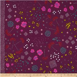 Cotton & Steel Mochi Mochi Floral Purple