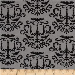 Moda Moonlight Manor Halloween Damask Foggy Grey