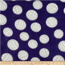 Printed Fleece Volleyball Purple
