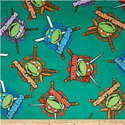 Nickelodeon Teenage Mutant Ninja Turtles Heroes in a Half Shell Badge Minky Green
