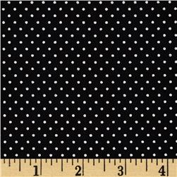 Simply Sterling Metallic Pin Dot Black/Silver Fabric