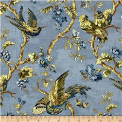 English Lane Large Birds Blue