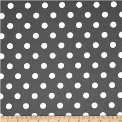 Moda Dottie Medium Dots Graphite Fabric