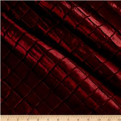 "1"" Diamond Pintuck Taffetta Burgundy"