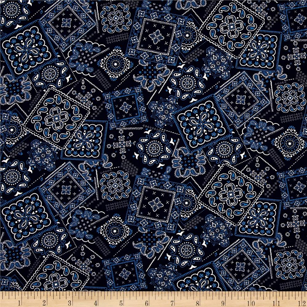 Kaufman Sevenberry Bandana Patch Navy