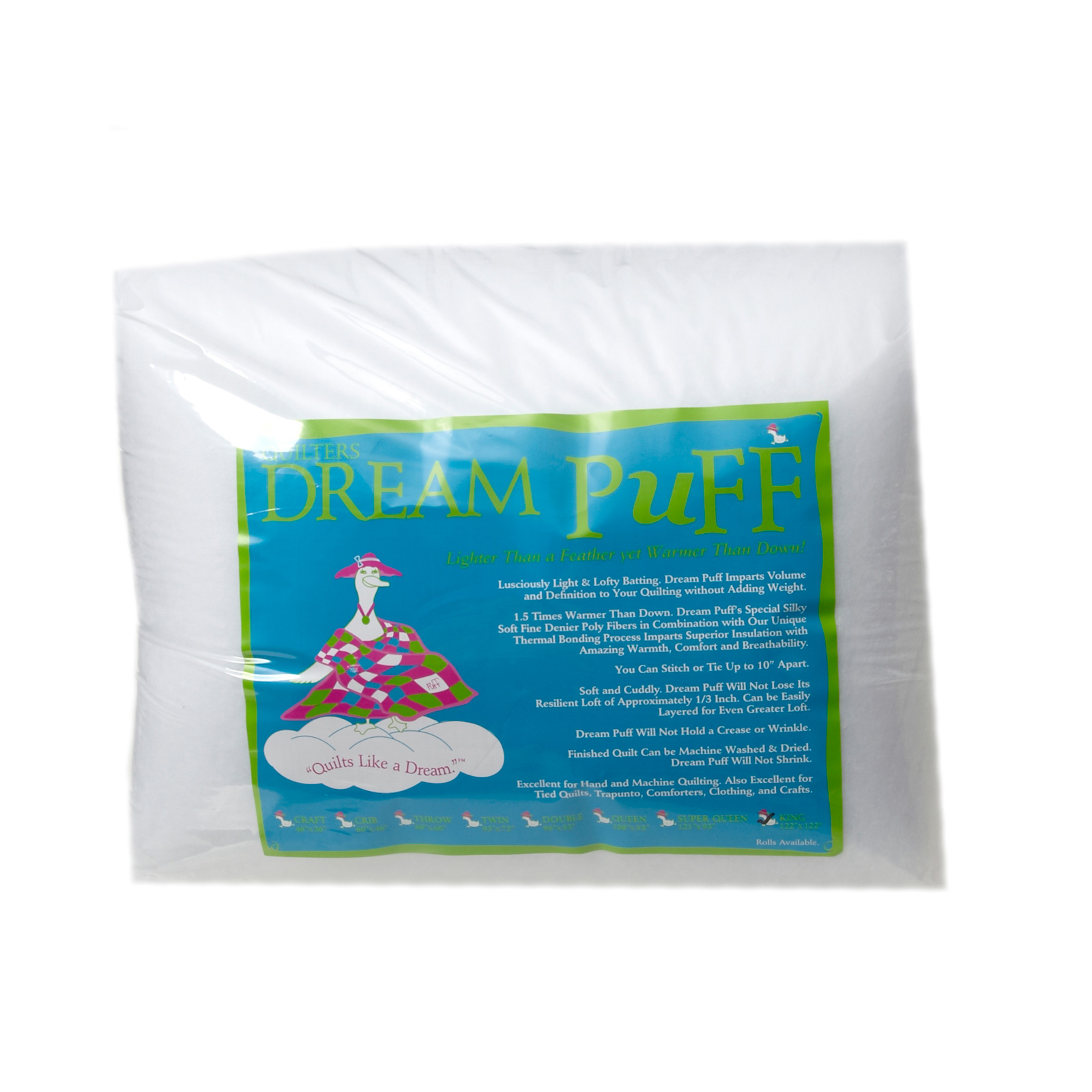 Quilter's Dream Puff Batting (122'' x 120'') King by Quilter's Dream in USA